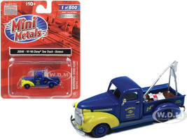 1941 1946 Chevrolet Tow Truck Sunoco Blue 1/87 HO Scale Model Car Classic Metal Works 30546