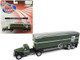 1941 1946 Chevrolet Tractor Trailer Truck US Mail Army Green 1/87 HO Scale Model Classic Metal Works 31175