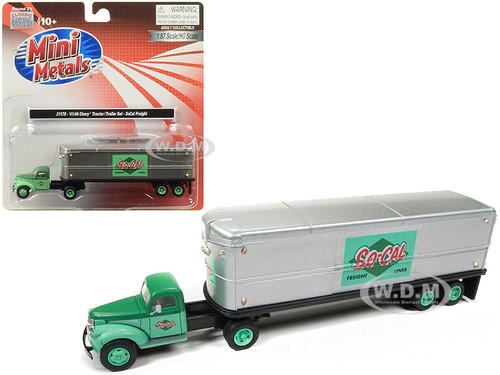 1941 1946 Chevrolet Tractor Trailer Truck So-Cal Freight 1/87 HO Scale Model Classic Metal Works 31178