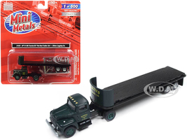 IH R-190 Tractor Truck 32' Flatbed Trailer Elkins Logging Co 1/87 HO Scale Model Classic Metal Works 31183
