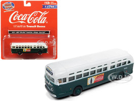 GMC TDH-3610 Transit Bus Chicago Coca Cola Green White Top 1/87 HO Scale Model Classic Metal Works 32317
