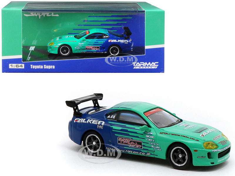 Toyota Supra Falken Tires 1/64 Diecast Model Car Tarmac Works T64-011-FAL