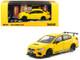 Subaru WRX STI S207 Sunrise Yellow 1/64 Diecast Model Car Tarmac Works T64-016-YL