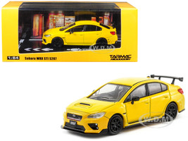 Subaru WRX STI S207 Sunrise Yellow 1/64 Diecast Model Car Tarmac Works T64-016-YL