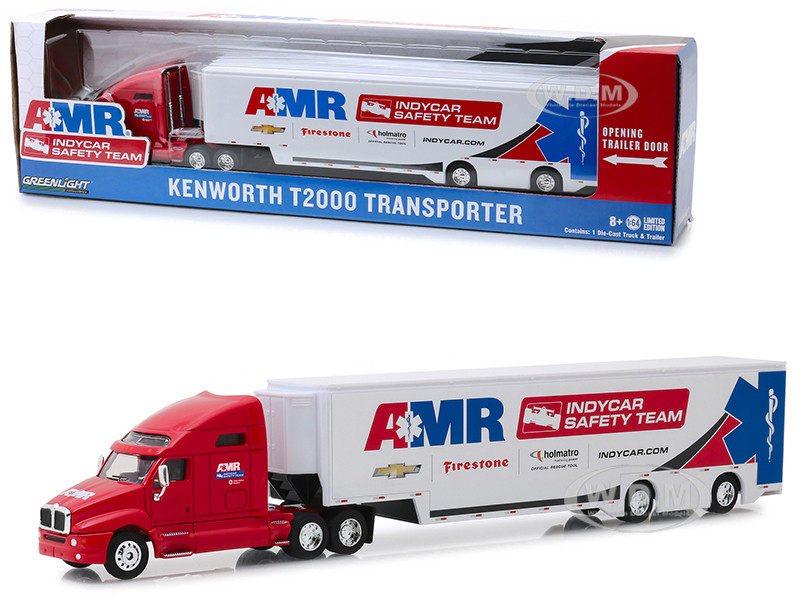 Kenworth T2000 Transporter AMR IndyCar Safety Team Hobby Exclusive 1/64 Diecast Model Greenlight 30038