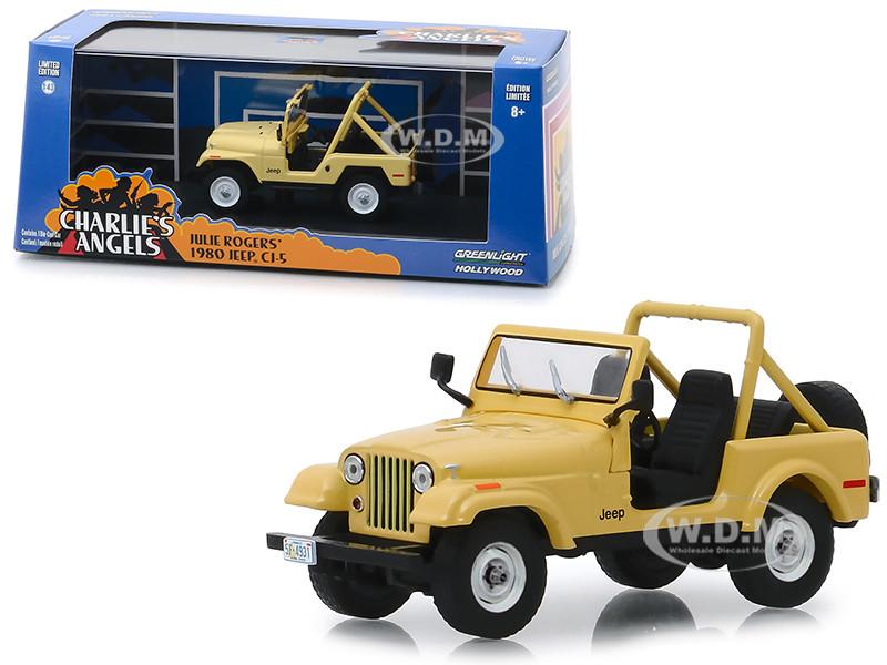 1980 Jeep CJ-5 Yellow Julie Roger's Charlie's Angels 1976 1981 TV Series 1/43 Diecast Model Car Greenlight 86333