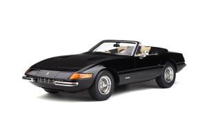 Ferrari 365 GTB/4 Spyder Convertible Black Limited Edition 999 pieces Worldwide 1/12 Model Car GT Spirit GT220
