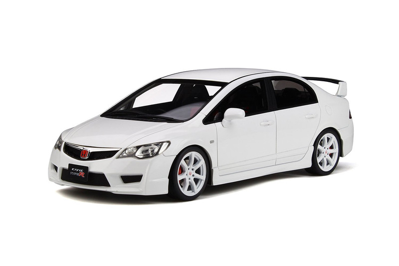 Honda Civic Type R FD2 White Wheels Limited Edition 1500 pieces Worldwide 1/18 Model Car Otto Mobile OT304