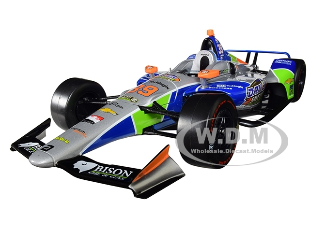 Dallara Indy Car #39 Pippa Mann Driven 2 Save Lives Clauson-Marshall Racing 1/18 Diecast Model Car Greenlight 11068
