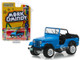 1972 Jeep CJ-5 Blue Mork & Mindy 1978 1982 TV Series Hollywood Series Release 23 1/64 Diecast Model Car Greenlight 44830 A