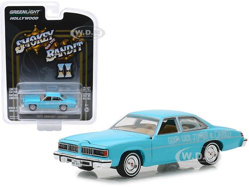 1977 Pontiac LeMans Wedding Car Blue Smokey and the Bandit II 1980 Movie Hollywood Series Release 23 1/64 Diecast Model Car Greenlight 44830 B