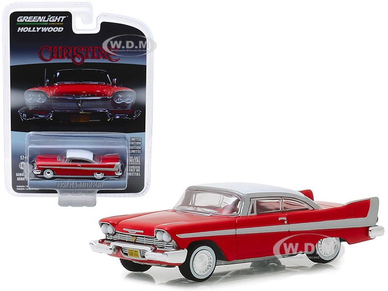 1958 Plymouth Fury Red White Top Christine 1983 Movie Hollywood Series Release 23 1/64 Diecast Model Car Greenlight 44830 C