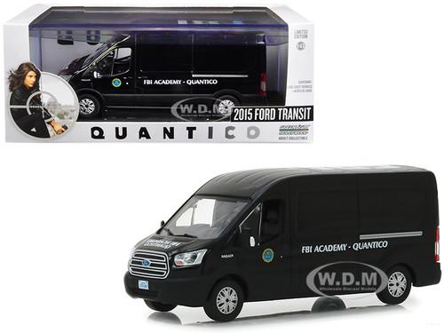 2015 Ford Transit Van Black FBI Academy Quantico Quantico 2015 2018 TV Series 1/43 Diecast Model Car Greenlight 86157