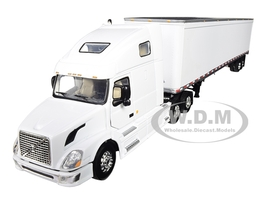 Volvo VN670 Sleeper Cab 53' Trailer White 1/64 Diecast Model First Gear 60-0236
