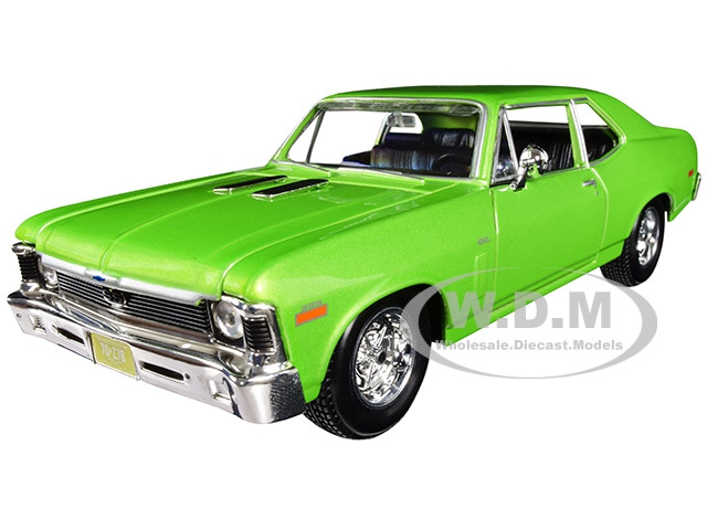 1970 Chevrolet Nova SS Metallic Green 1/24 Diecast Model Car Maisto 31262