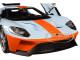 2017 Ford GT Blue Orange Stripe Special Edition 1/18 Diecast Model Car Maisto 31384