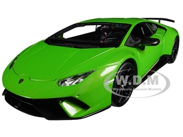 Lamborghini Huracan Performante Metallic Green 1/18 Diecast Model Car Maisto 31391