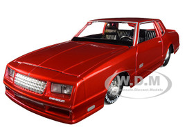 1986 Chevrolet Monte Carlo SS Candy Red Classic Muscle 1/24 Diecast Model Car Maisto 32530
