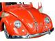 1951 Volkswagen Beetle Roof Rack Orange Red Classic Muscle 1/18 Diecast Model Car Maisto 32614