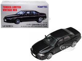 1998 Nissan Skyline GT-R Autech Version RHD Right Hand Drive Metallic Dark Purple 40th Anniversary 1/64 Diecast Model Car Tomytec 289487