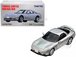 1991 Mazda Efini RX-7 Type R RHD Right Hand Drive Metallic Silver 1/64 Diecast Model Car Tomytec 288961
