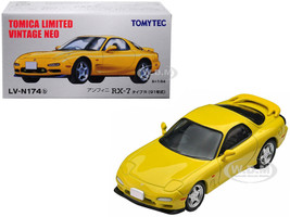 1991 Mazda Efini RX-7 Type R RHD Right Hand Drive Yellow 1/64 Diecast Model Car Tomytec 288978
