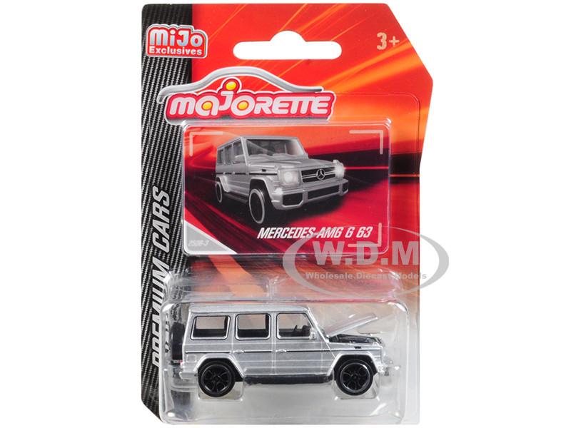 Mercedes AMG G 63 Silver Premium Cars 1/61 Diecast Model Car Majorette 3052MJ8