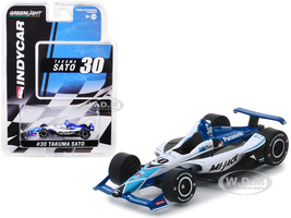 Honda Dallara Indy Car #30 Takuma Sato Panasonic Mi-Jack Rahal Letterman Lanigan Racing 1/64 Diecast Model Car Greenlight 10851