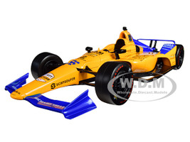 Dallara Indy Car #66 Fernando Alonso Dell Technologies Mindmaze McLaren Racing 1/18 Diecast Model Car Greenlight 11061