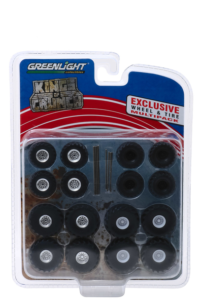 Monster Trucks Wheel Tire Multipack Kings of Crunch Set 24 pieces 1/64 Greenlight 13169
