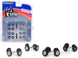 Volkswagen Wheel Tire Multipack Club Vee-Dub Set 24 pieces 1/64 Greenlight 13172