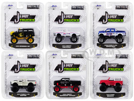 Just Trucks Set 6 Trucks Series 22 1/64 Diecast Model Cars Jada 14020-W22