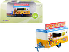 Mobile Food Trailer Spicy Sanita's 1/87 HO Scale Diecast Model Oxford Diecast 87TR013