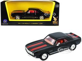 1967 Chevrolet Camaro Z-28 Black Red Stripes 1/43 Diecast Model Car Road Signature 94216