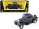 1932 Ford 3 Window Coupe Metallic Dark Blue 1/43 Diecast Car Model Road Signature 94231