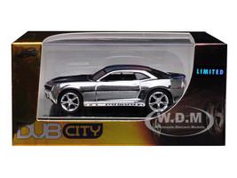 2006 Chevrolet Camaro Concept Chrome Silver Dub City Limited Edition 1/64 Diecast Model Car Jada 91309