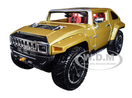 Hummer HX Concept Gold Metallic Premiere Edition 1/18 Diecast Model Car Maisto 36171