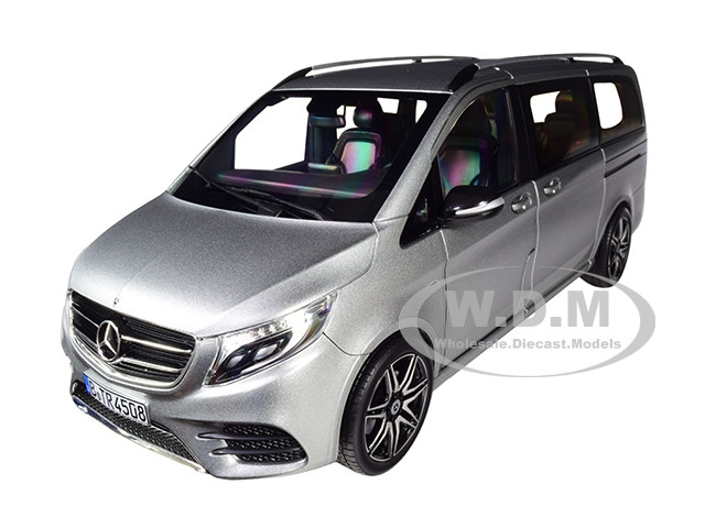 2018 Mercedes Benz V Class Amg Line Van Gray Metallic 1 18 Diecast Model Car By Norev