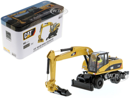 CAT Caterpillar M318D Wheeled Excavator Operator High Line Series 1/87 HO Scale Diecast Model Diecast Masters 85177