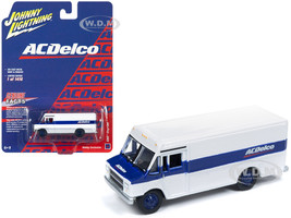 1990 GMC Step Van ACDelco White Blue Stripe Limited Edition 1416 pieces Worldwide 1/87 HO Scale Diecast Model Johnny Lightning JLSP063