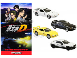 Set 4 Cars Initial D 2016 Movie 1/64 Diecast Model Cars Kyosho K07057A6