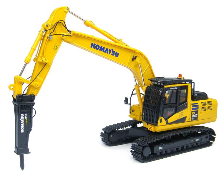 Komatsu PC210LC-10 Tracked Excavator Hydraulic Breaker 1/50 Diecast Model Universal Hobbies UH8096