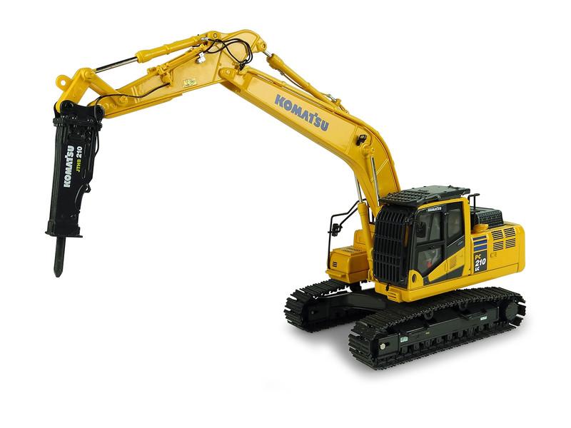 Komatsu PC210LC-11 Tracked Excavator Hammer Drill 1/50 Diecast Model Universal Hobbies UH8140