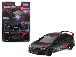 Honda Civic Type R FK8 Black Customer Racing Study USA Limited Edition 3600 pieces Worldwide 1/64 Diecast Model Car True Scale Miniatures MGT00023
