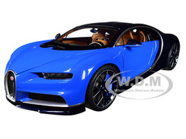 Bugatti Chiron French Racing Blue Atlantic Blue 1/18 Model Car Autoart 70993