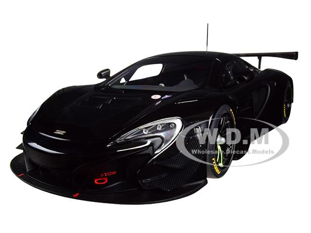 McLaren 650S GT3 Gloss Black Matt Black Accents 1/18 Model Car Autoart 81644