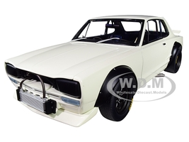 1972 Nissan Skyline GT-R KPGC-10 Racing White Millennium 1/18 Diecast Model Car Autoart 87279
