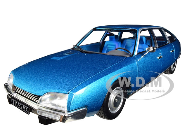 1974 Citroen CX 2000 Delta Blue Metallic 1/18 Diecast Model Car Norev 181523