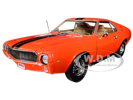 1969 AMC AMX Hardtop Big Bad Orange Black Stripes Hemmings Muscle Machines Limited Edition 1002 pieces Worldwide 1/18 Diecast Model Car Autoworld AMM1170
