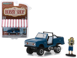 1967 Ford Bronco Dark Blue Doors Removed Backpacker Figure The Hobby Shop Series 6 1/64 Diecast Model Car Greenlight 97060 B